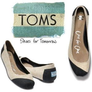Toms One for One Alessandra Burlap Flats